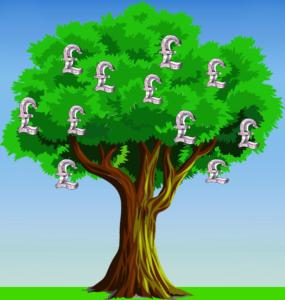 Magic Money Tree Illustration